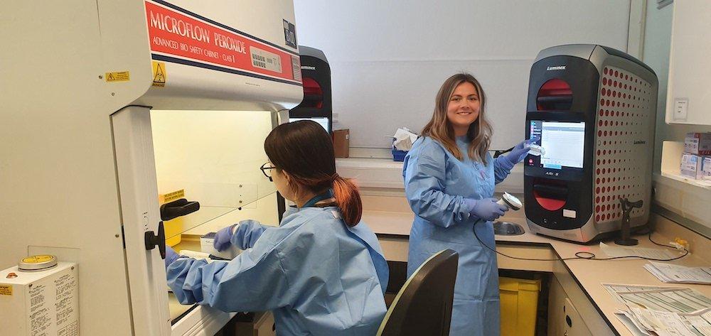 Rapid coronavirus testing underway at Northampton General