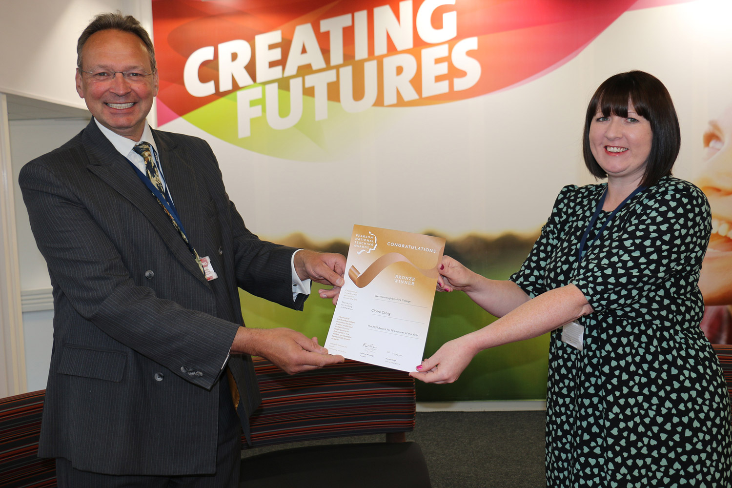 """""""Outstanding"""" tutor Claire scoops teaching award"""