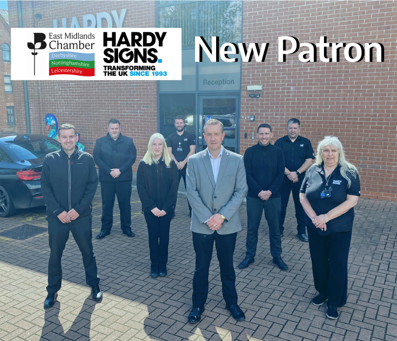 Hardy Signs joins East Midlands Chamber as Patron