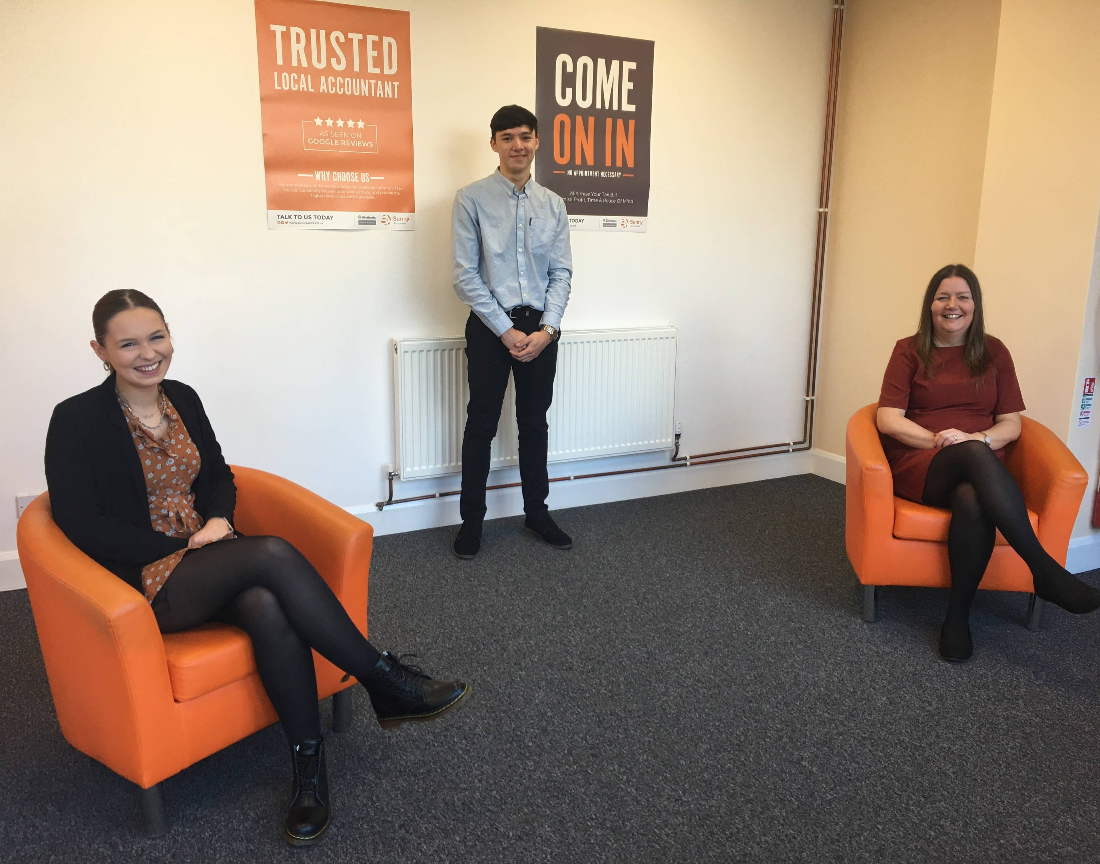 Sunny Accountants looks to the future with a trio of new recruits