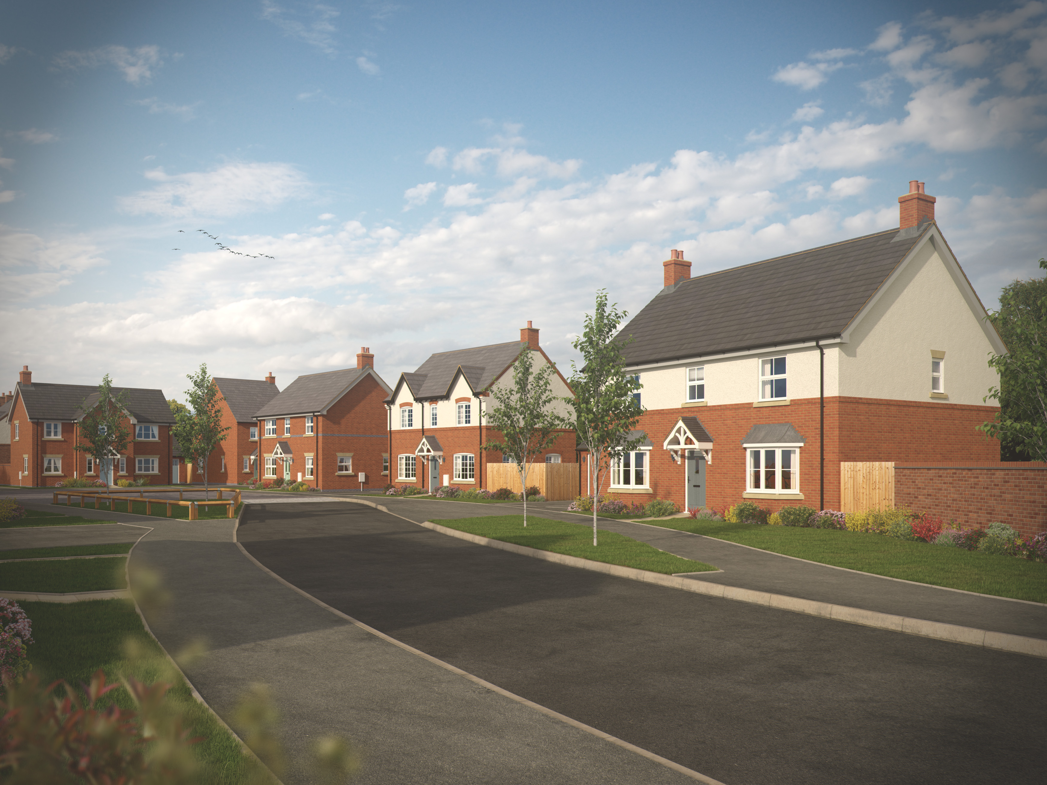 Peveril Homes' Chamberlain Place, Measham, welcoming visitors from Saturday 9th November