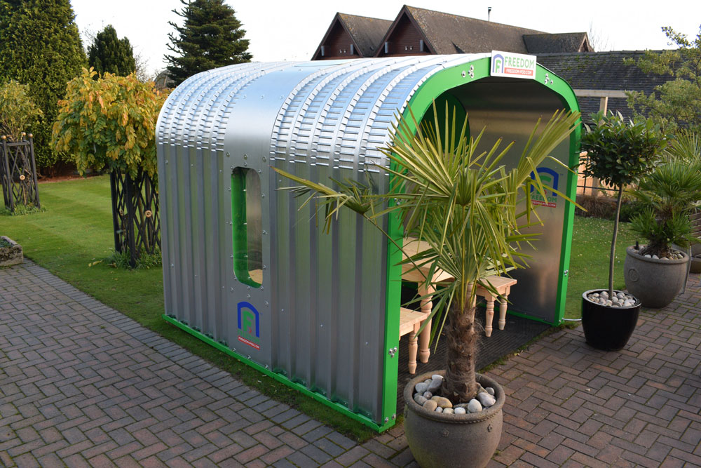 Derbyshire businessman invents outdoor dining pods for the hospitality sector hit by the global pandemic
