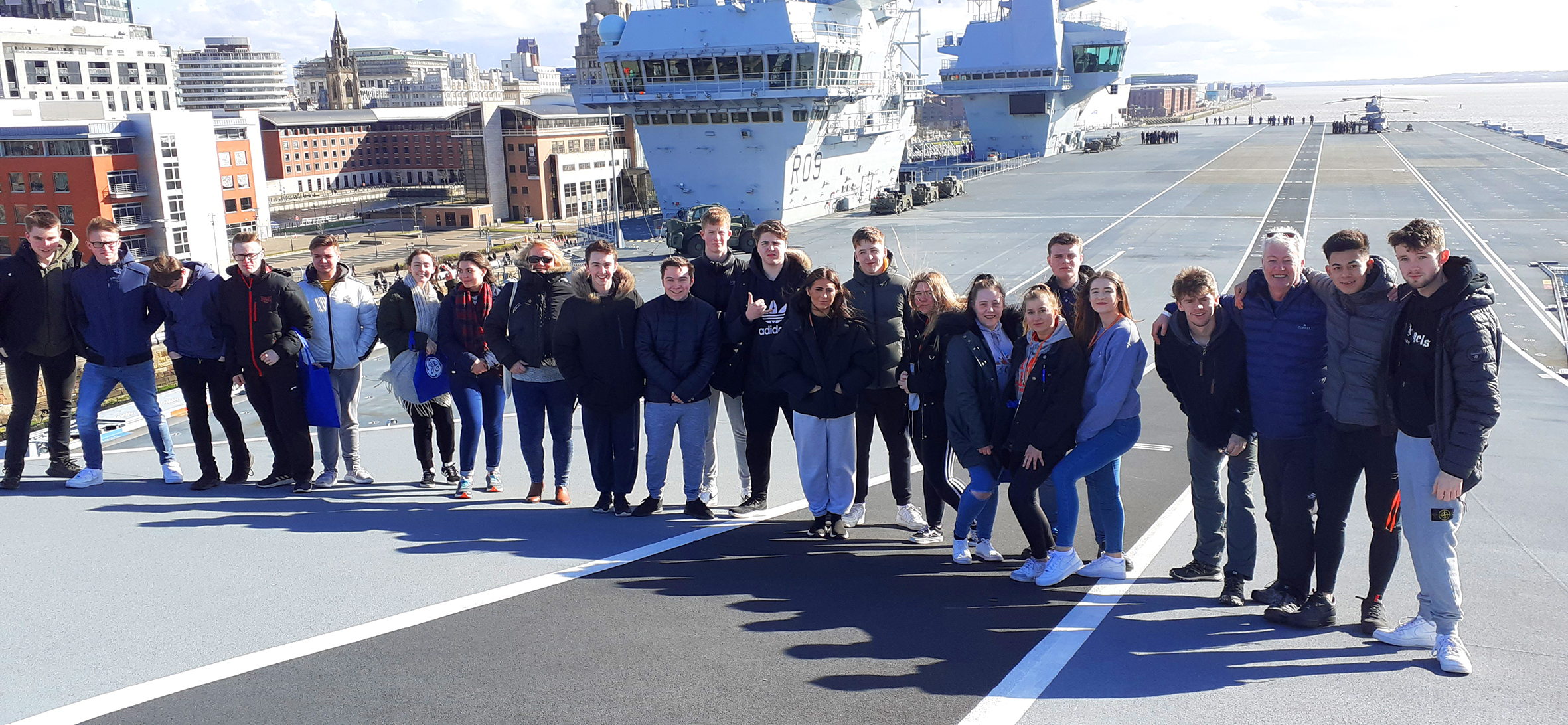 All aboard! Public services students visit HMS Prince of Wales