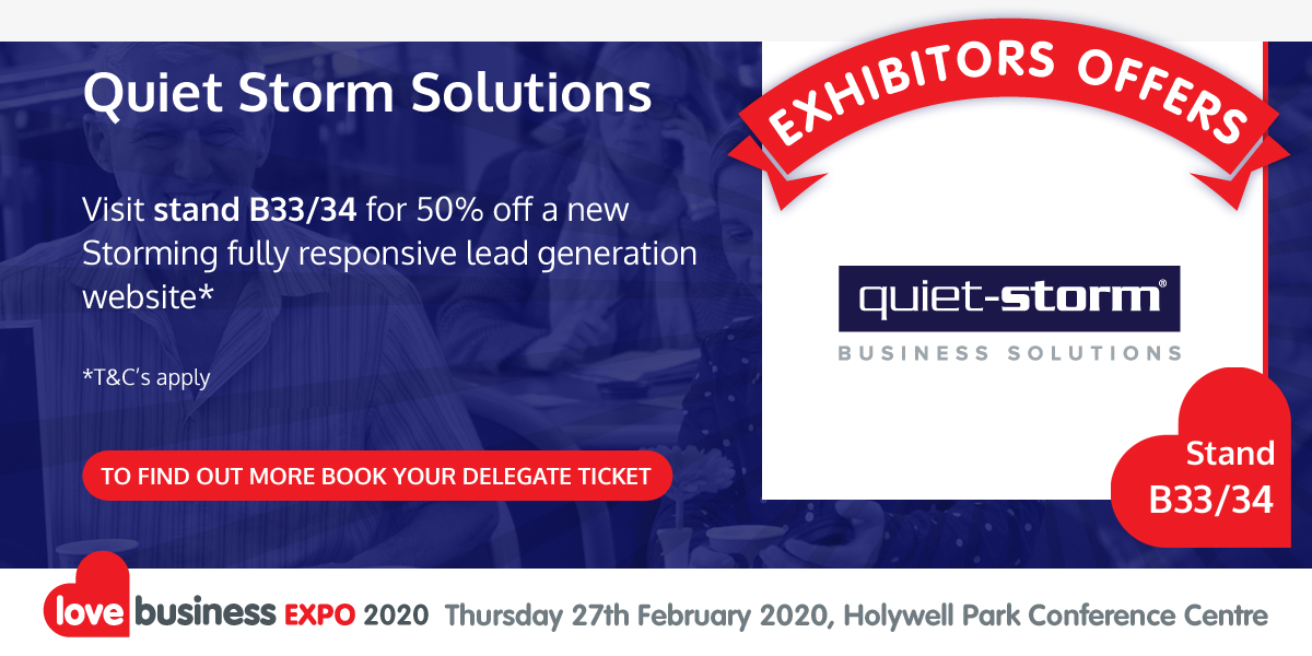 Check out Quiet Storm Solutions' exclusive Love Business EXPO offer!