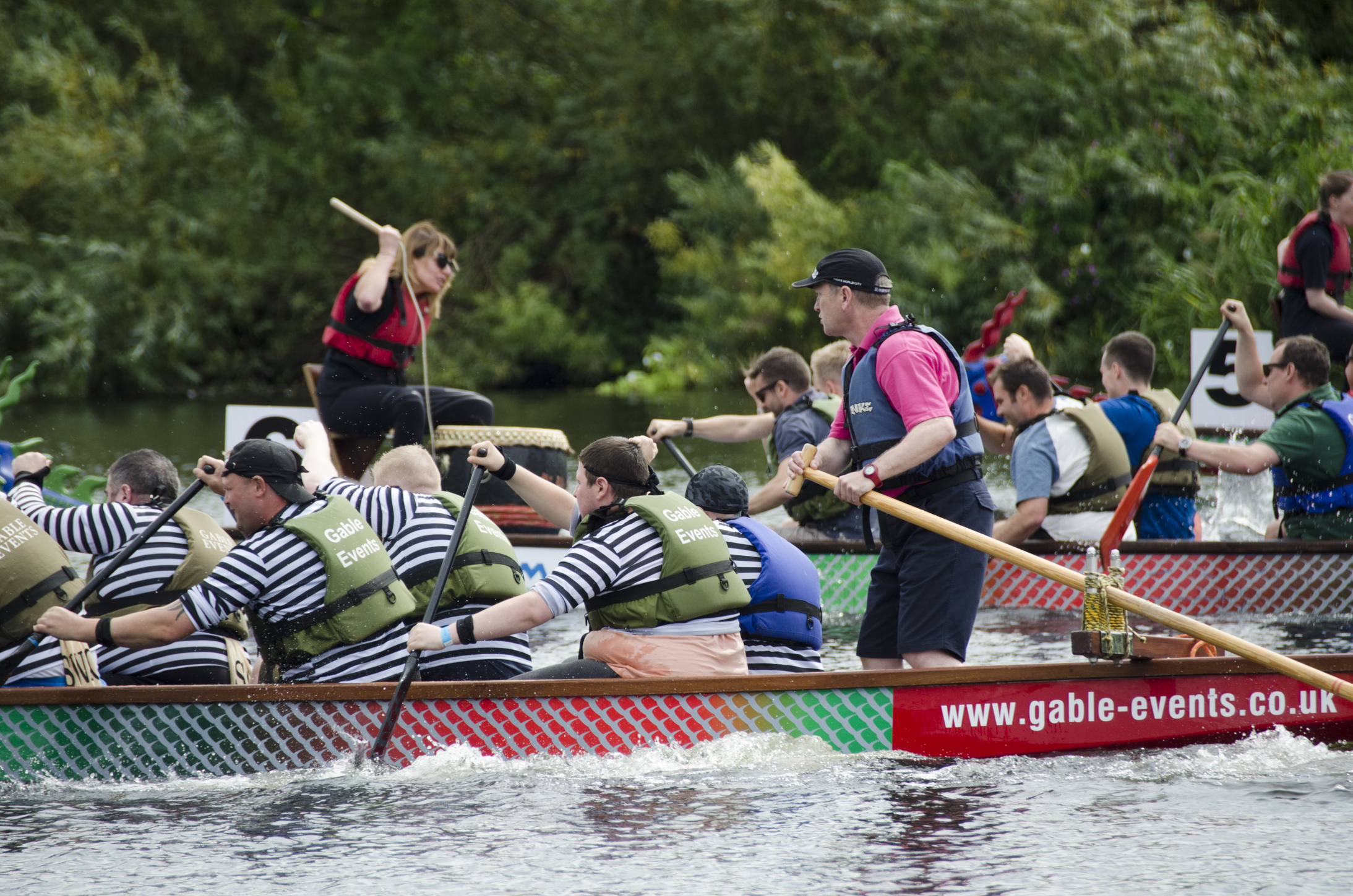 Dragons get ready to roar at the Nottingham Riverside Festival Dragon Boat Challenge on Sunday 4th August