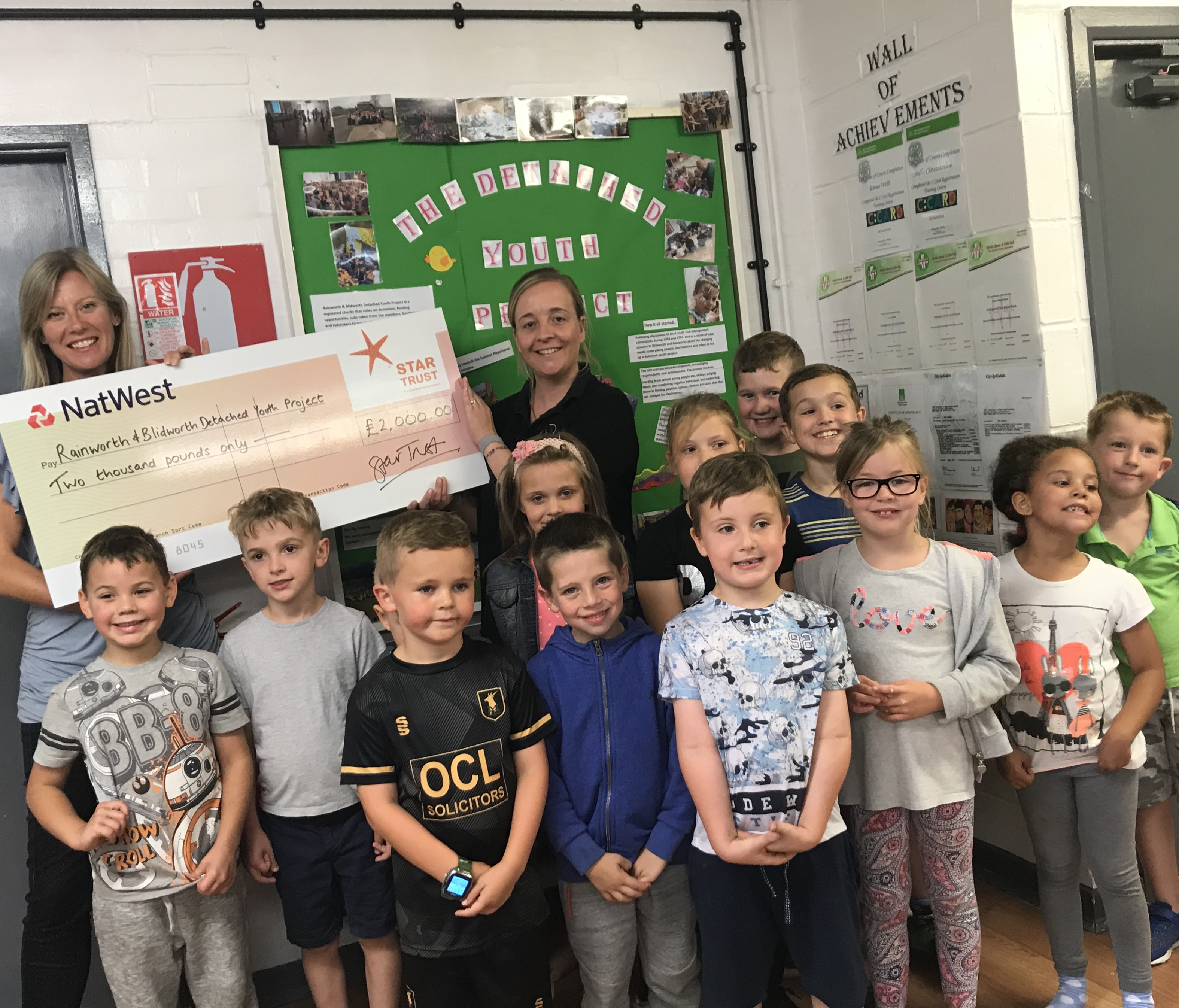 MANSFIELD YOUTH AND COMMUNITY CENTRE CAN FUND SCHEME THANKS TO £2K FROM STAR TRUST