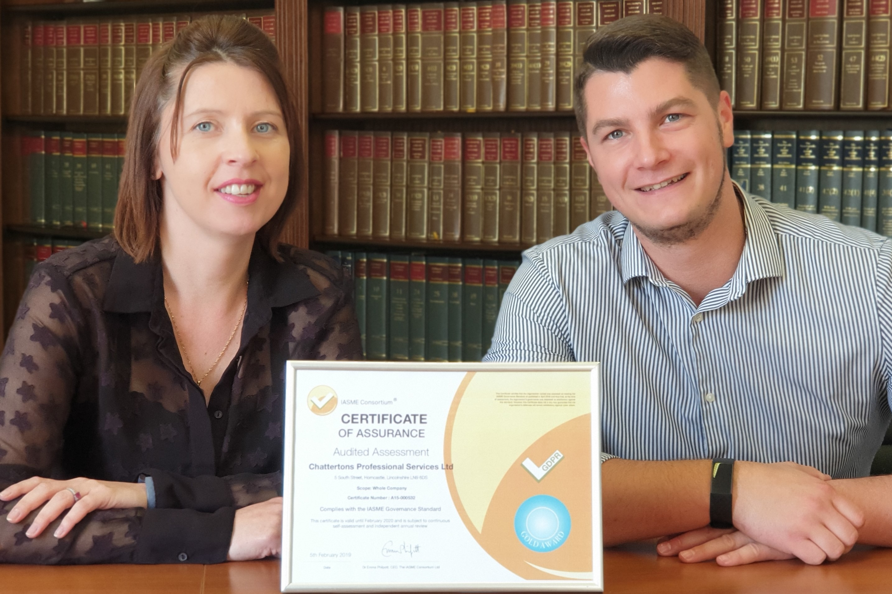 """Leading Lincolnshire law firm achieve """"gold standard"""" in cyber security"""