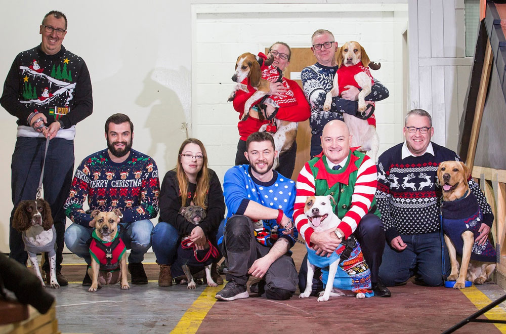 Doggie Donation! Furry Festive Visitors