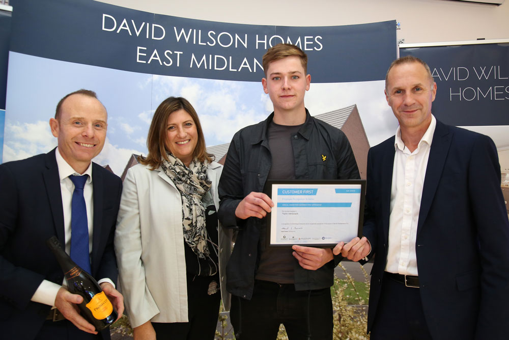 Bricklaying apprentice scoops major accolade with Leicestershire homebuilder