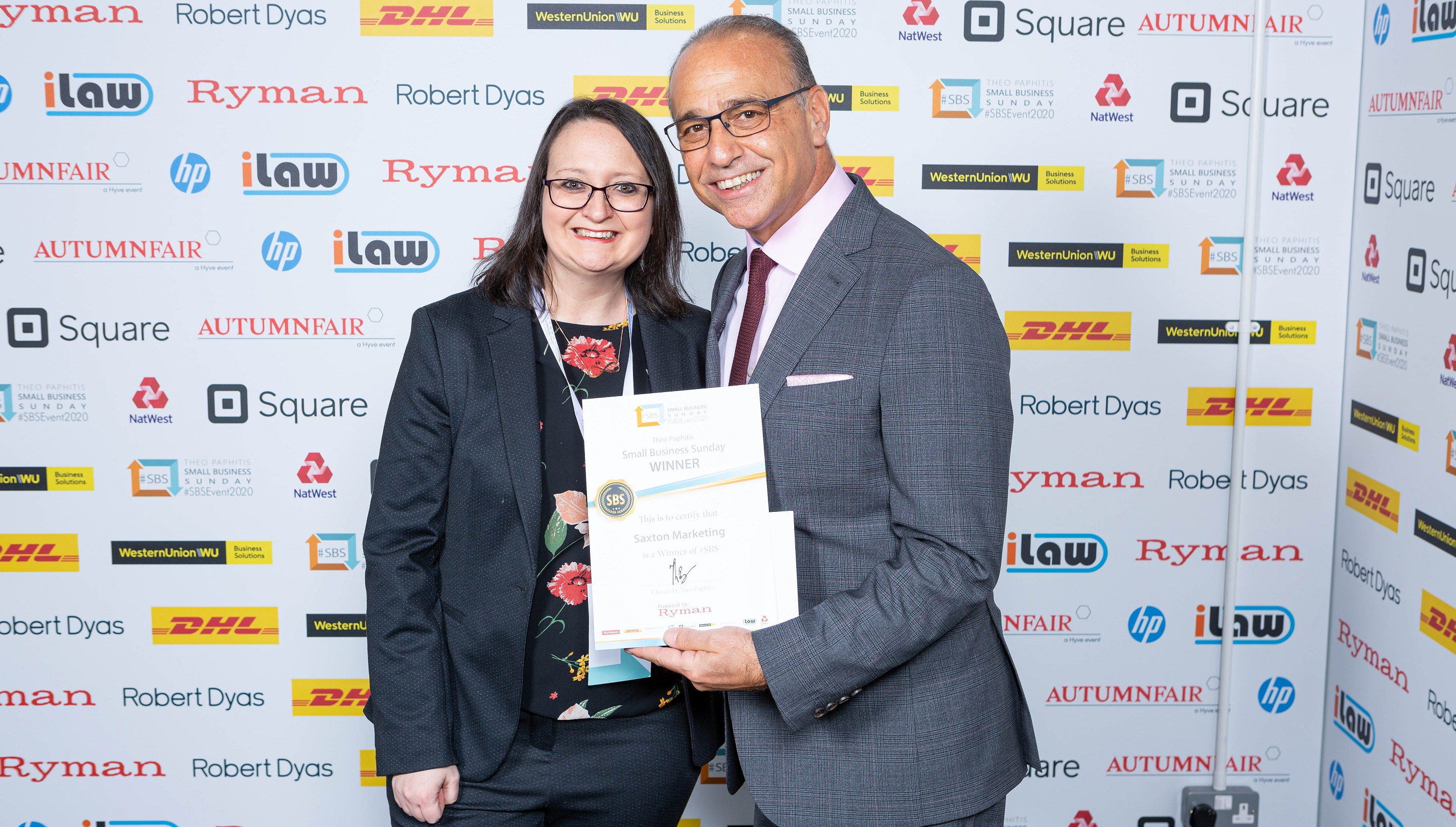 Derbyshire mum honoured by Theo Paphitis