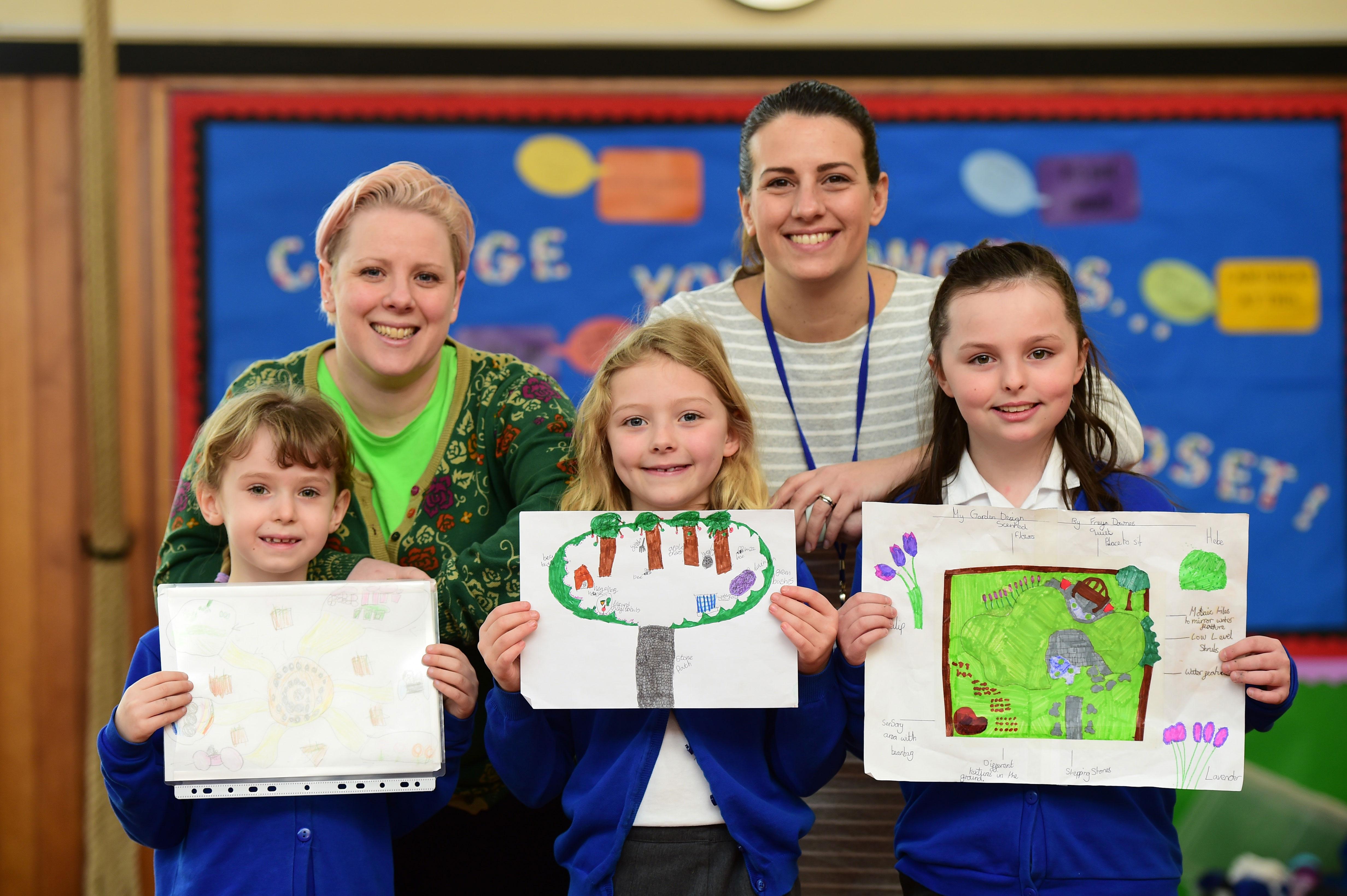 School in Wingerworth benefits from sensory gardens donation