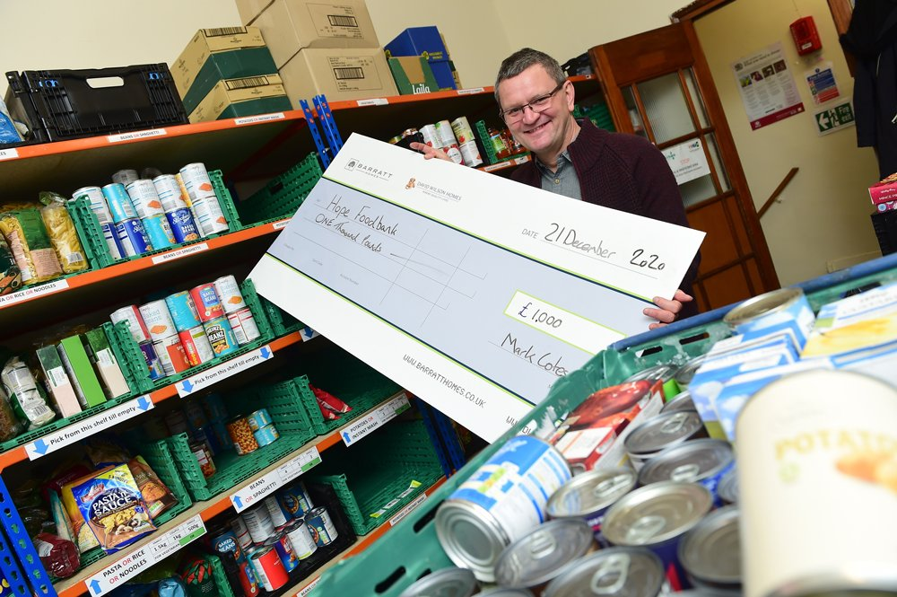 Beeston homebuilder supports local foodbank during Christmas period