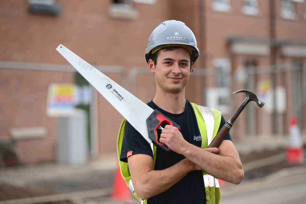 Nuneaton apprentice secures role with leading developer