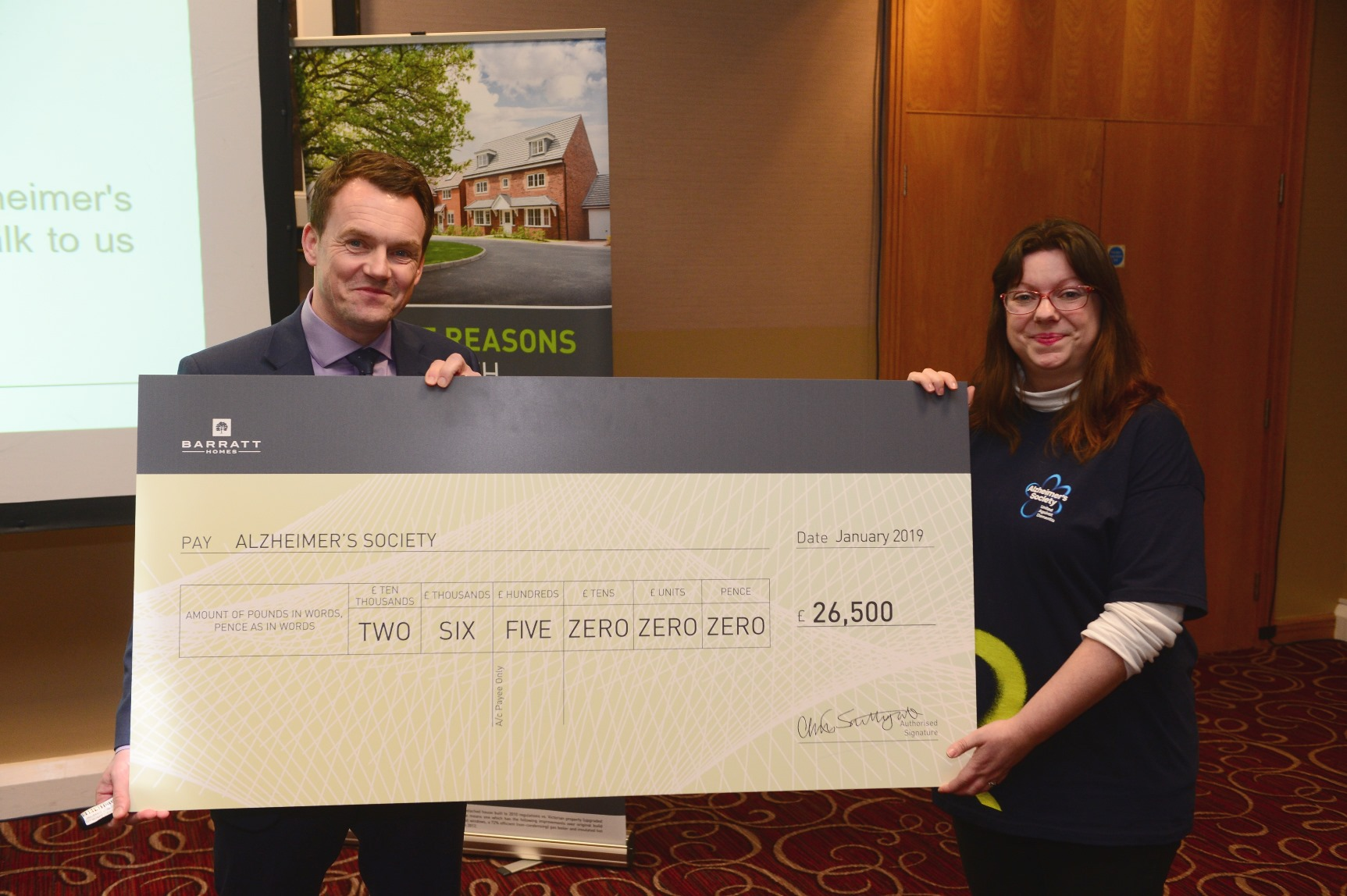 Barratt and David Wilson Homes raises more than £26k for its charity of the year Alzheimer's Society