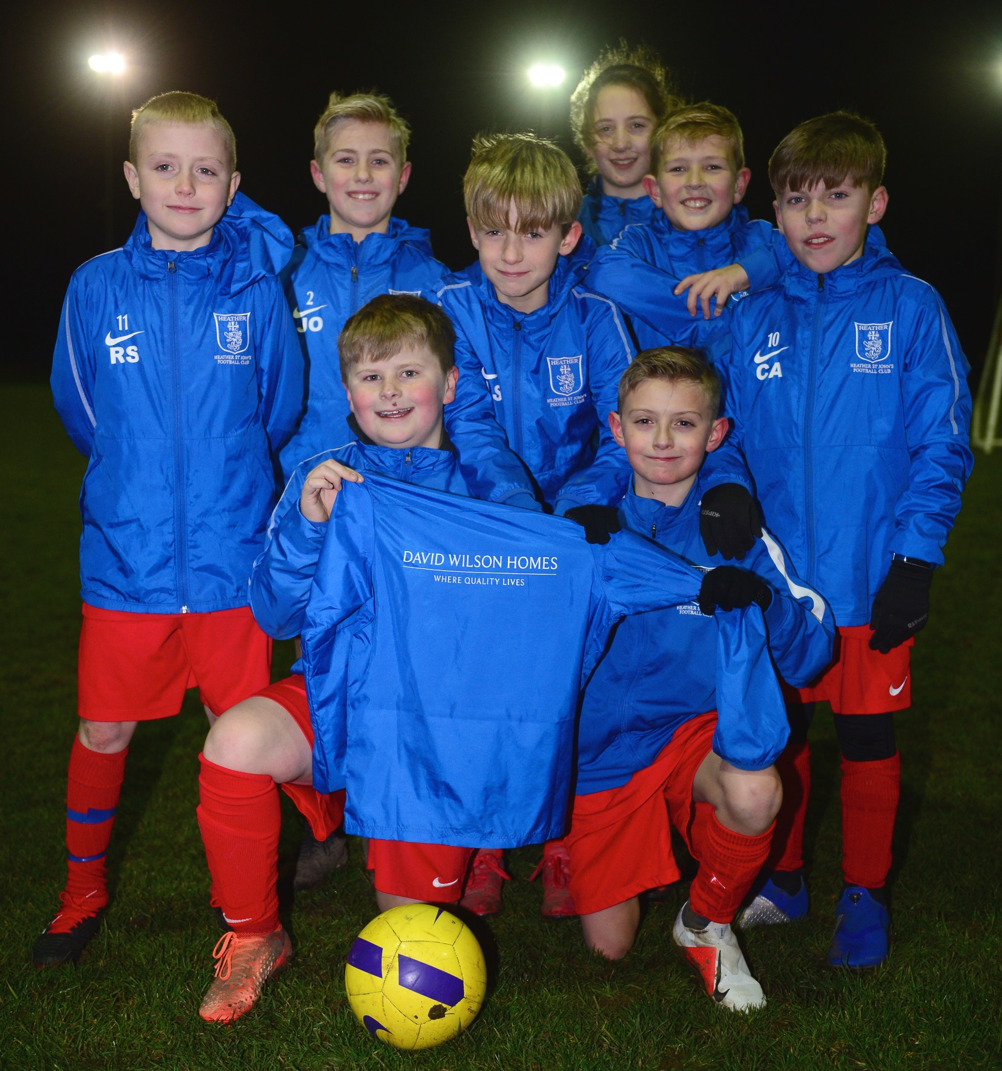 Coalville Football Team scores sponsorship with David Wilson Homes
