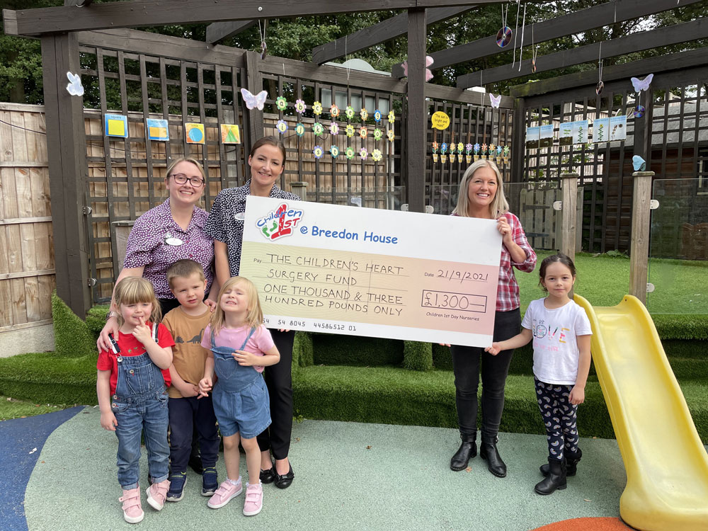 Chesterfield Nursery Fundraises for the Children's Heart Surgery Fund