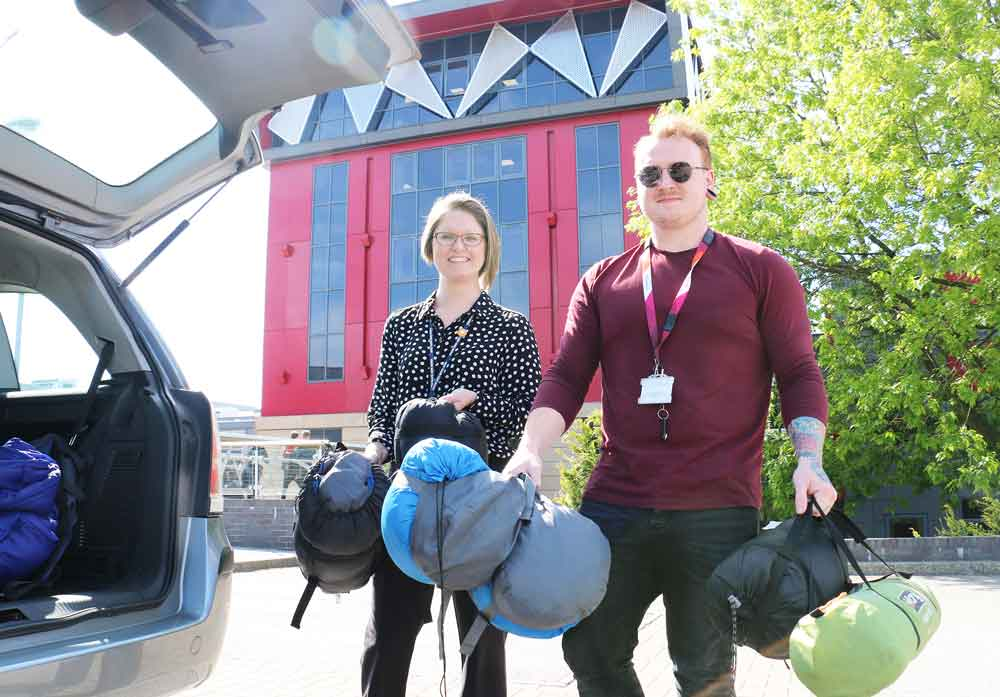 Vital supplies for homeless thanks to college kindness