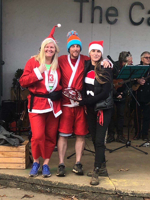 Local businessman honoured at 2019 Race Harborough Santa Run