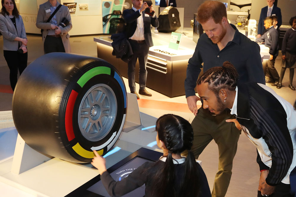 Duke of Sussex and Lewis Hamilton officially open new museum The Silverstone Experience