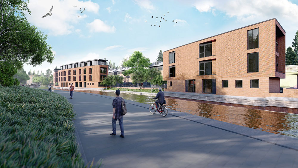 Luxury waterside student accommodation commences on site in Nottingham