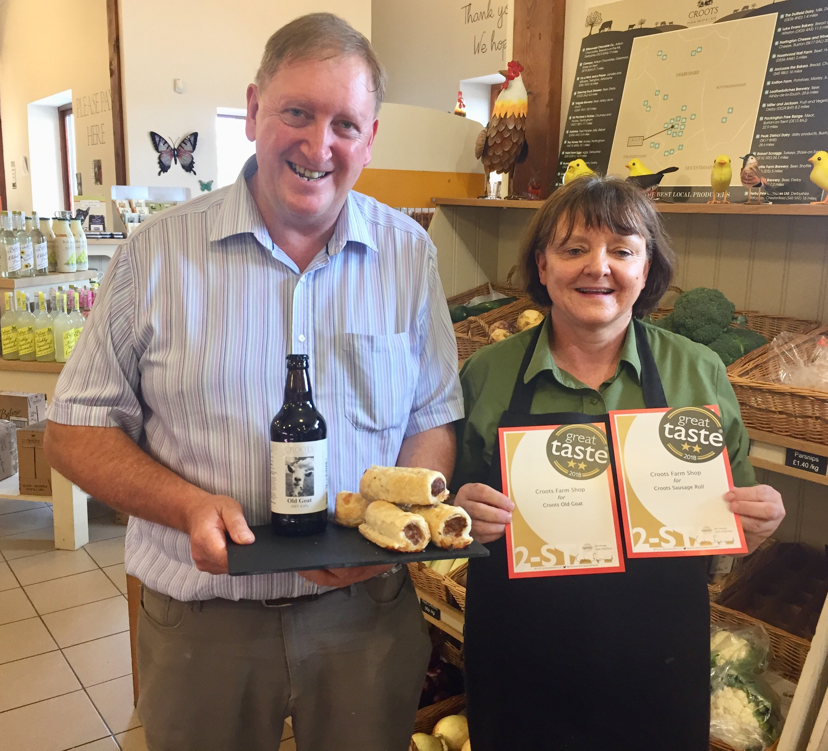 Double delight as Croots Farm Shop scores success in the Great Taste Awards 2018