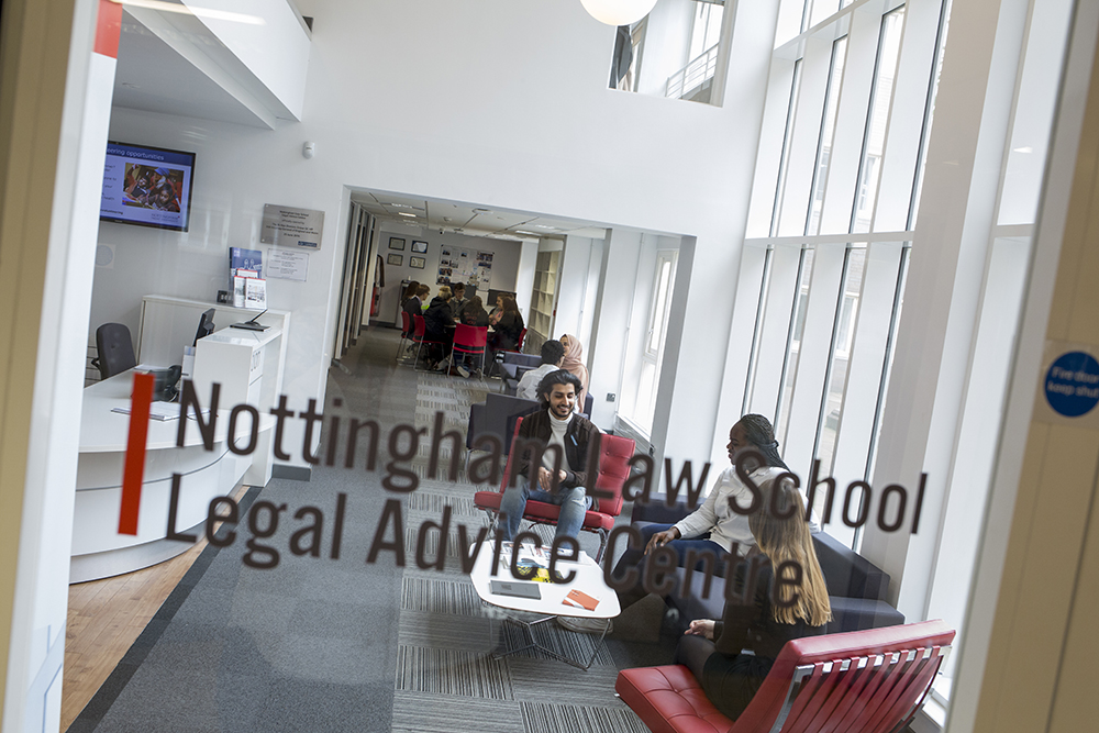 Community legal support recognised with national award win for Nottingham Law School Legal Advice Centre