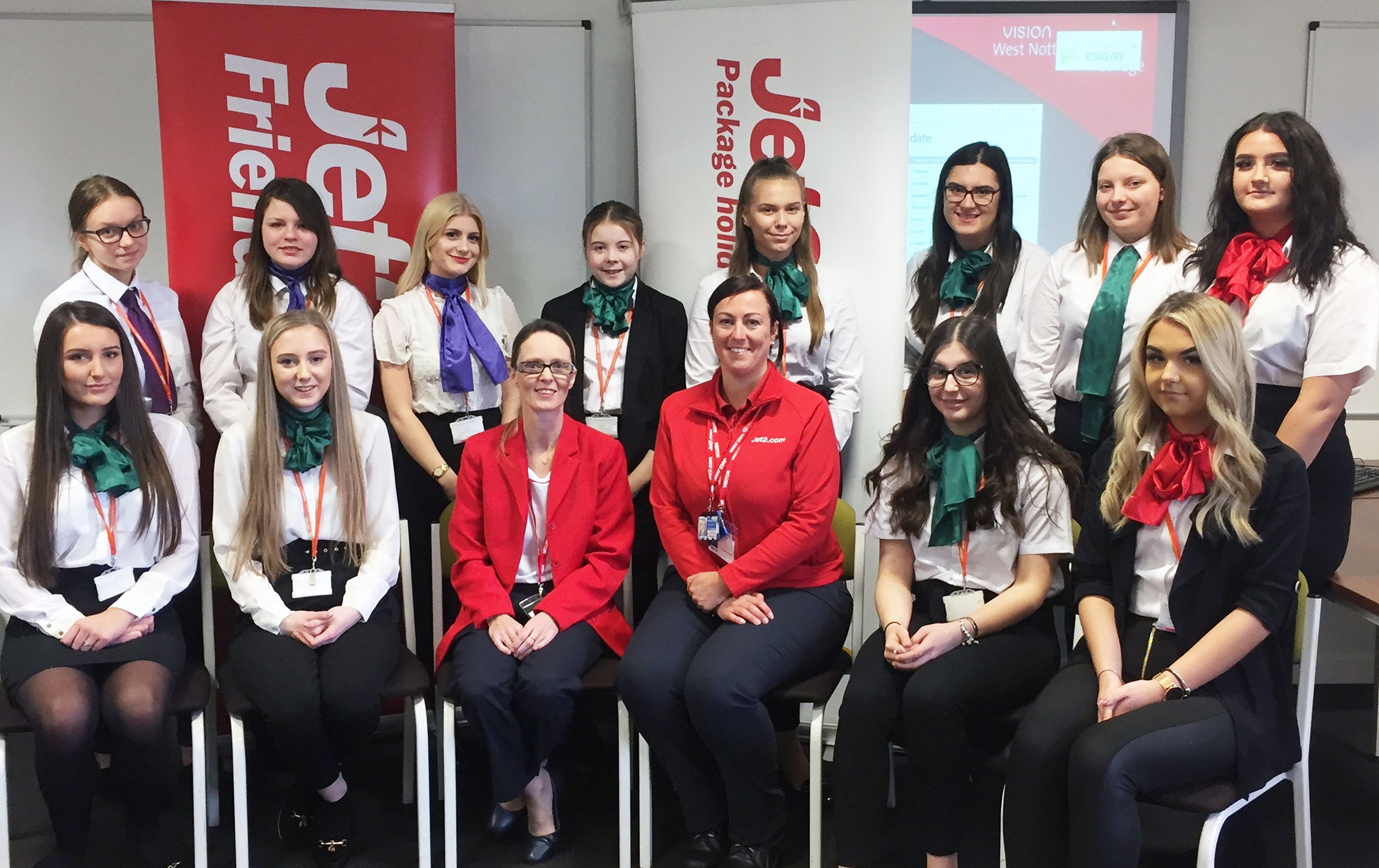 Students get top flight careers advice from one of  country's top airlines