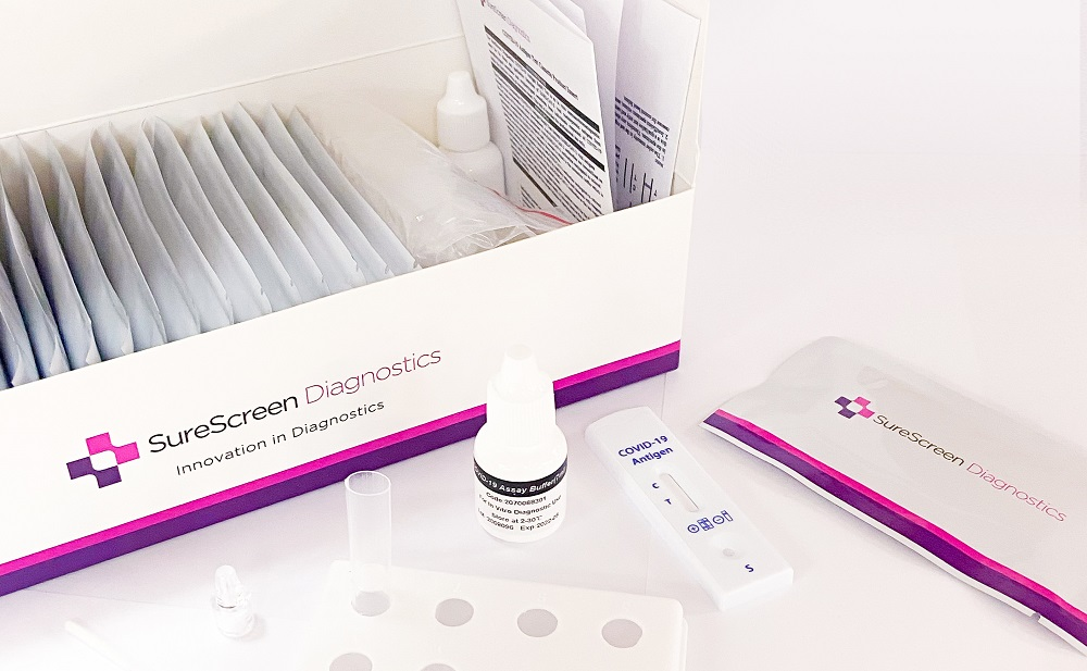 SureScreen Diagnostics to supply 20 million rapid lateral flow tests