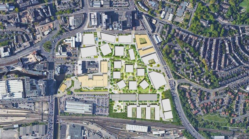 Unique 'archipelago' masterplan for Nottingham's The Island Quarter development revealed at exclusive event
