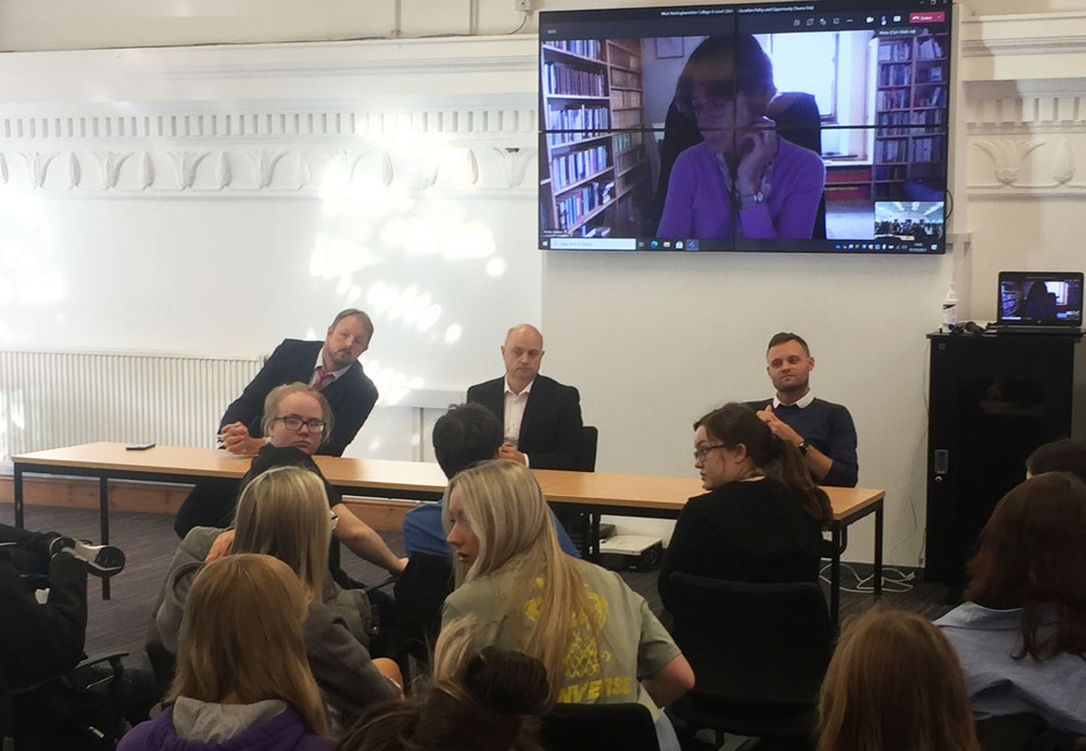 Question Time at Sixth Form College