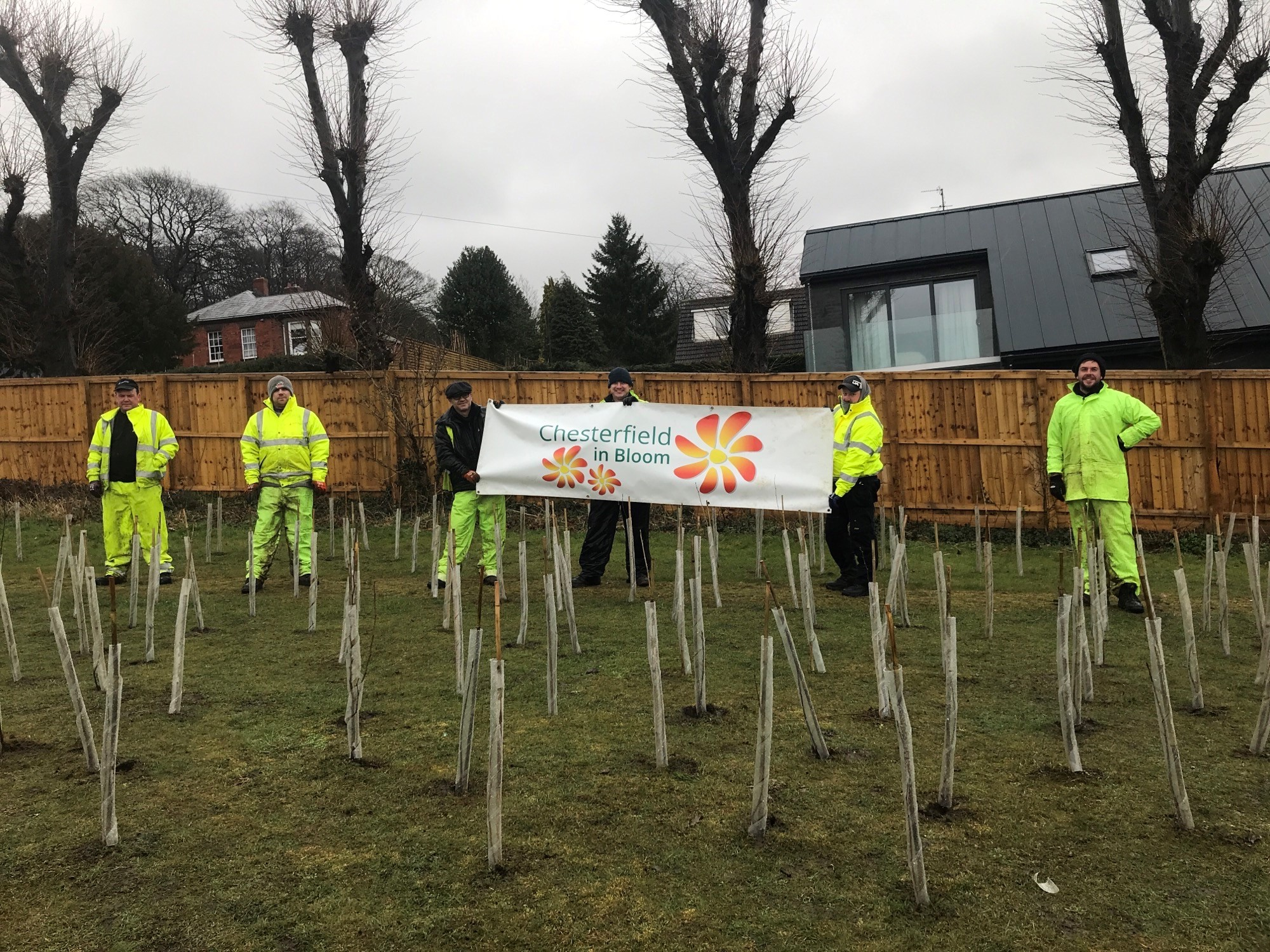 Tree planting to welcome spring