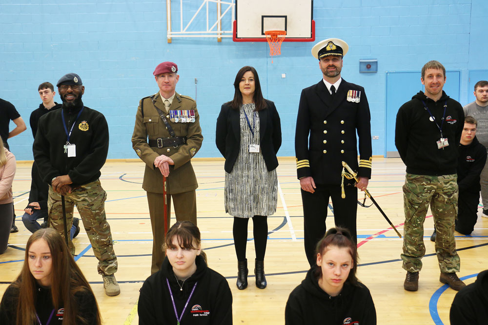 Students stand ready for military careers advice