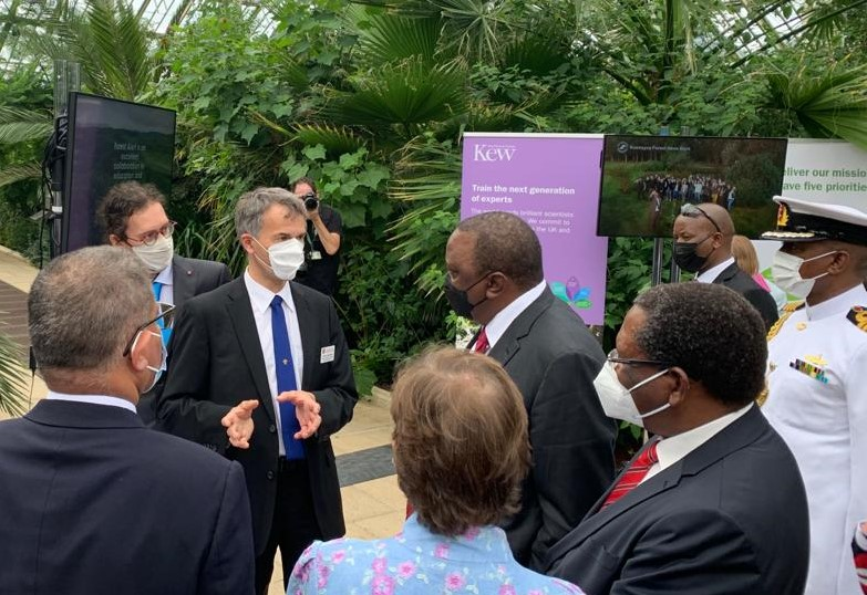 Award-winning satellite ecosystem protection project developed by Leicester researchers showcased to Kenyan President