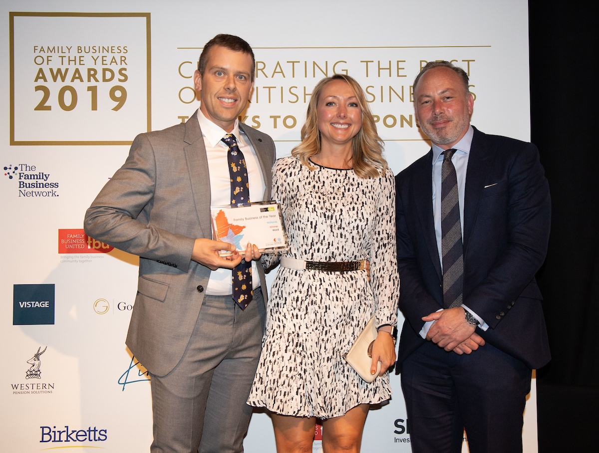 Ward take the Midlands and Central family business crown in 7th award win