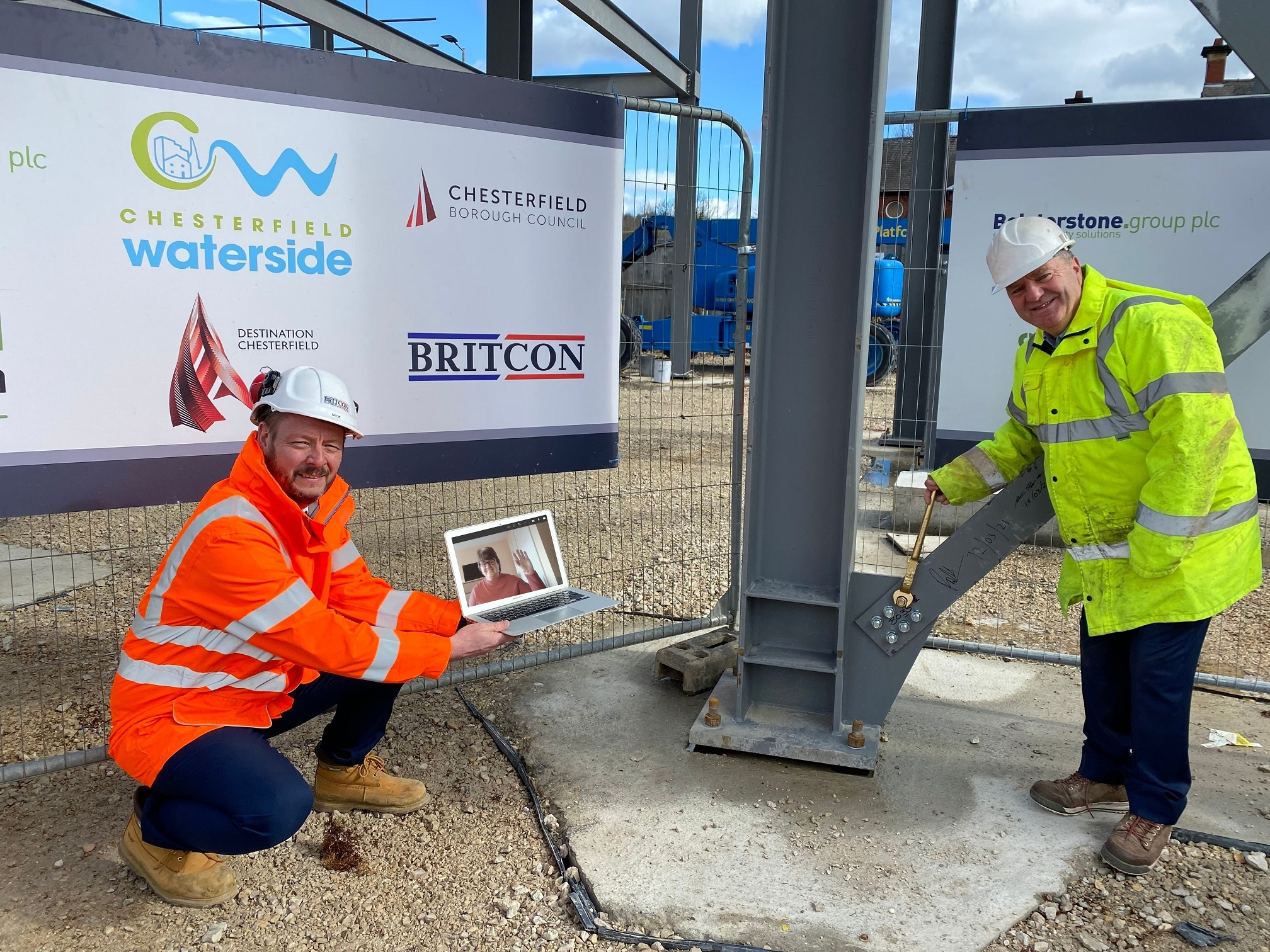 Bolt tightening ceremony marks another milestone in Chesterfield Waterside