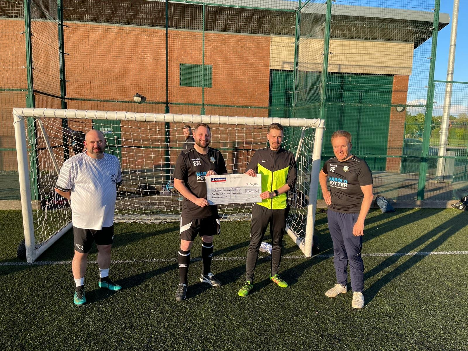 Perfect match as charity football team and Derbyshire business raise more than £1,500 for city special school's sensory room