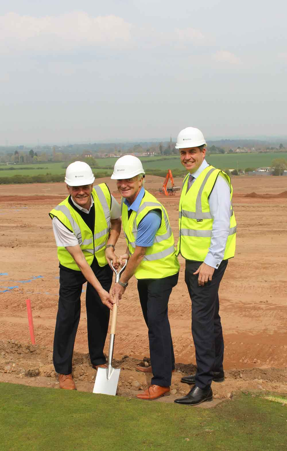 J Tomlinson breaks ground in preparation for brand new golf clubhouse