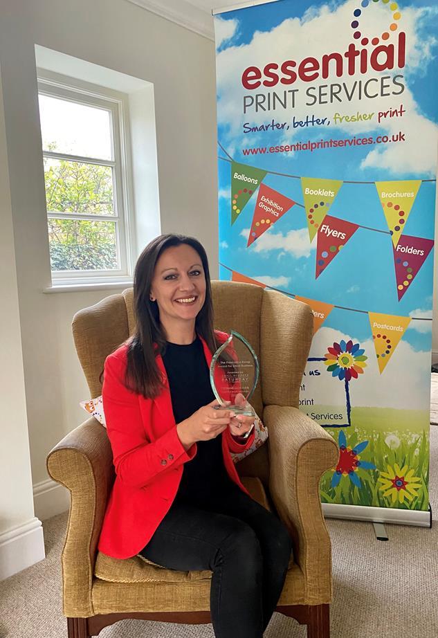Derby business woman receives prestigious small business award