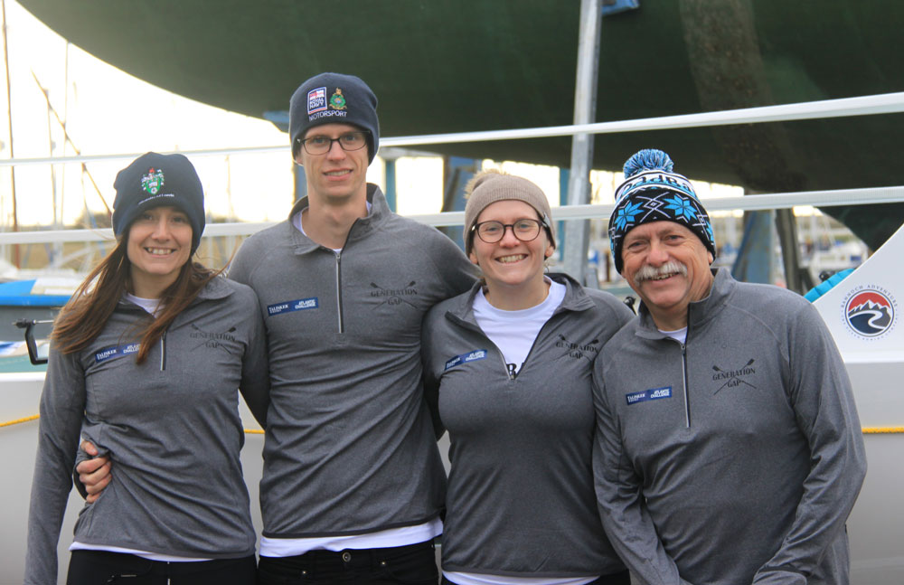 Team challenges the generation gap by taking on 'world's toughest row'