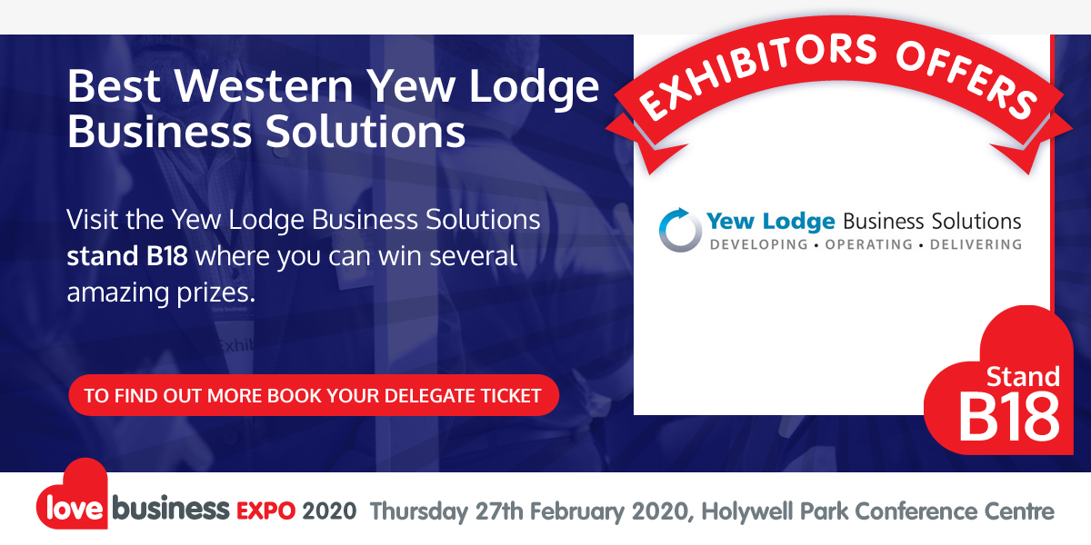 Check out Best Western Yew Lodge  Business Solutions' exclusive Love Business EXPO offer!