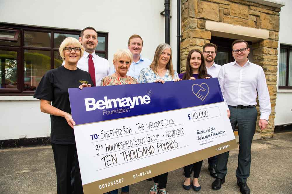 Belmayne invests £10k in chosen charities