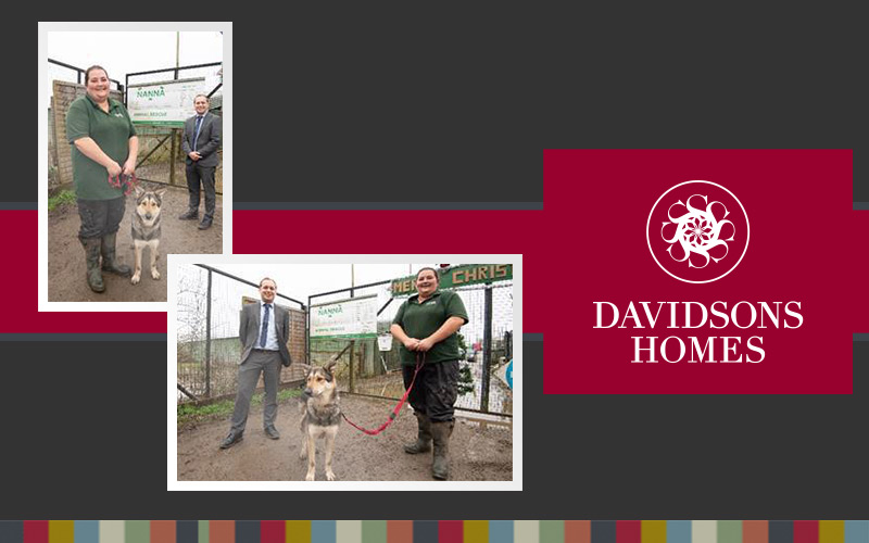 Irthlingborough housebuilder shows support to animal rescue charity