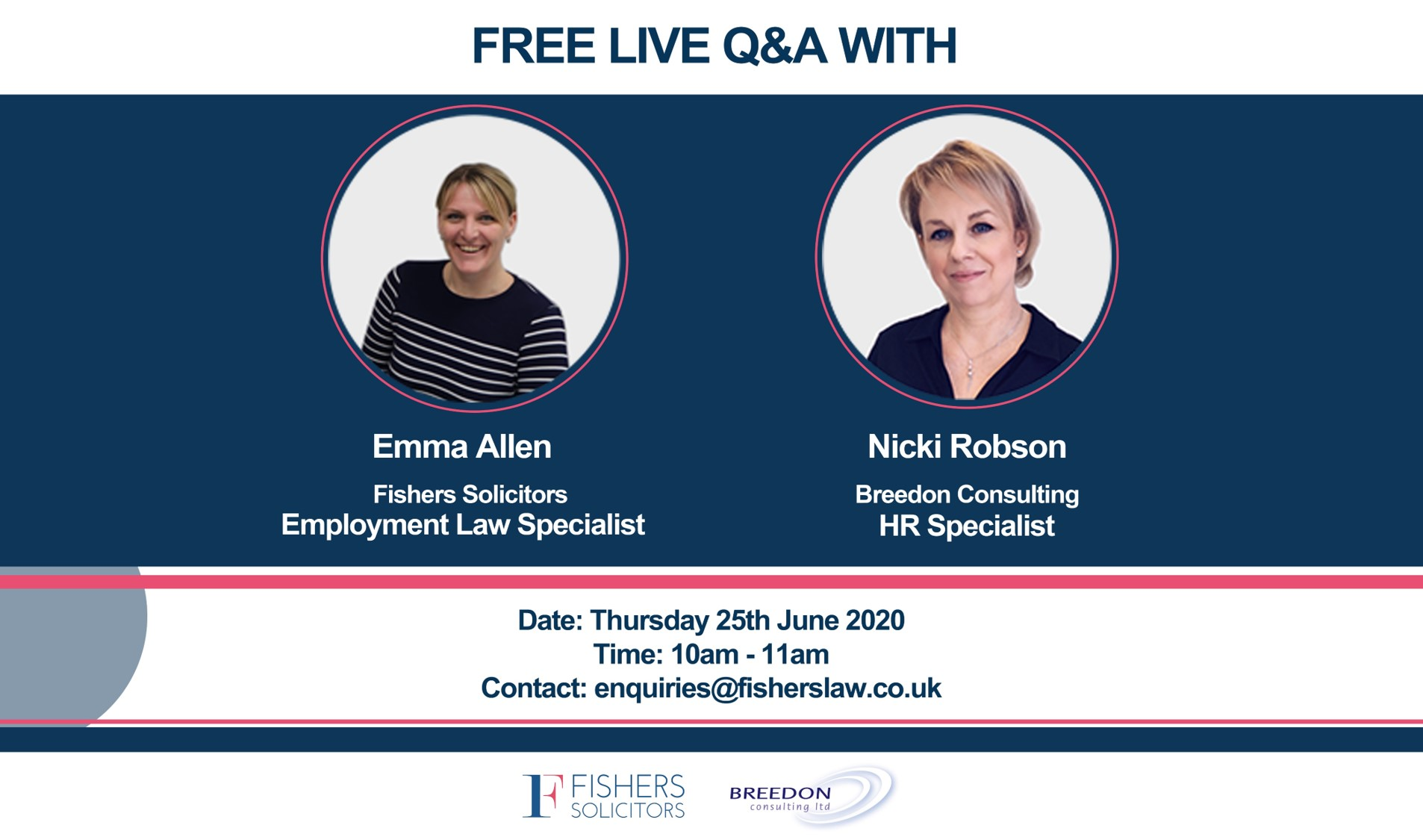 Fishers Solicitors and Breedon Consulting join together to support businesses with a free webinar