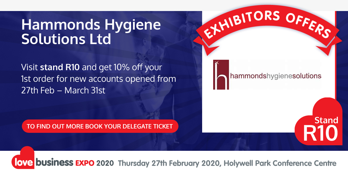 Check out Hammonds Hygiene Solutions Ltd's exclusive Love Business EXPO offer!