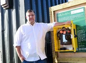 Defibrillator installed at Hampton Water after housebuilder's £800 donation
