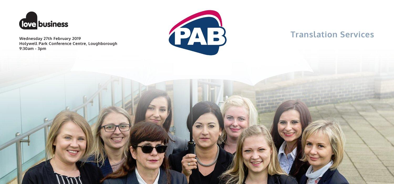 New Sponsor Announcement: Translation Services, PAB Languages