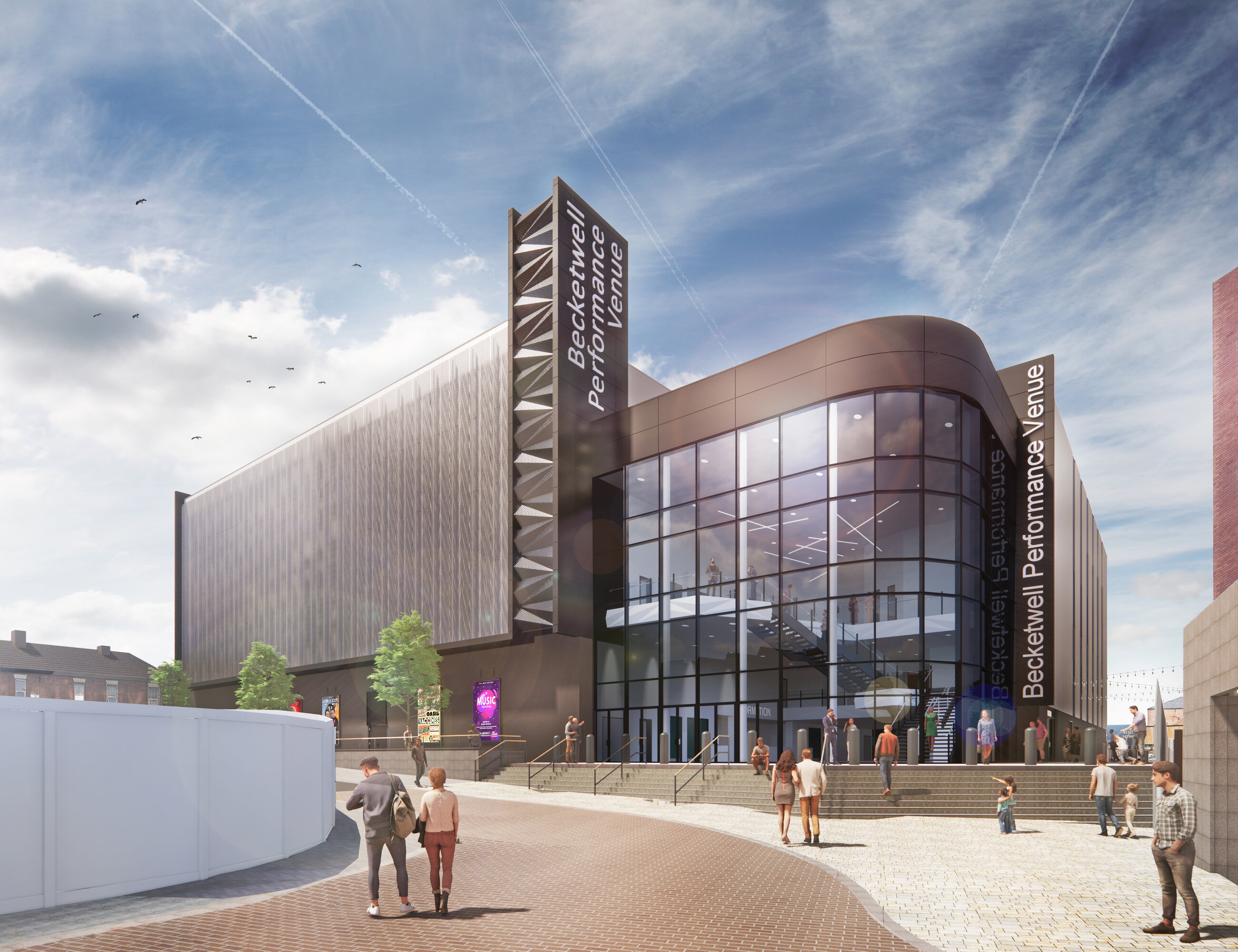 Planning consent granted for groundbreaking Becketwell Performance Venue