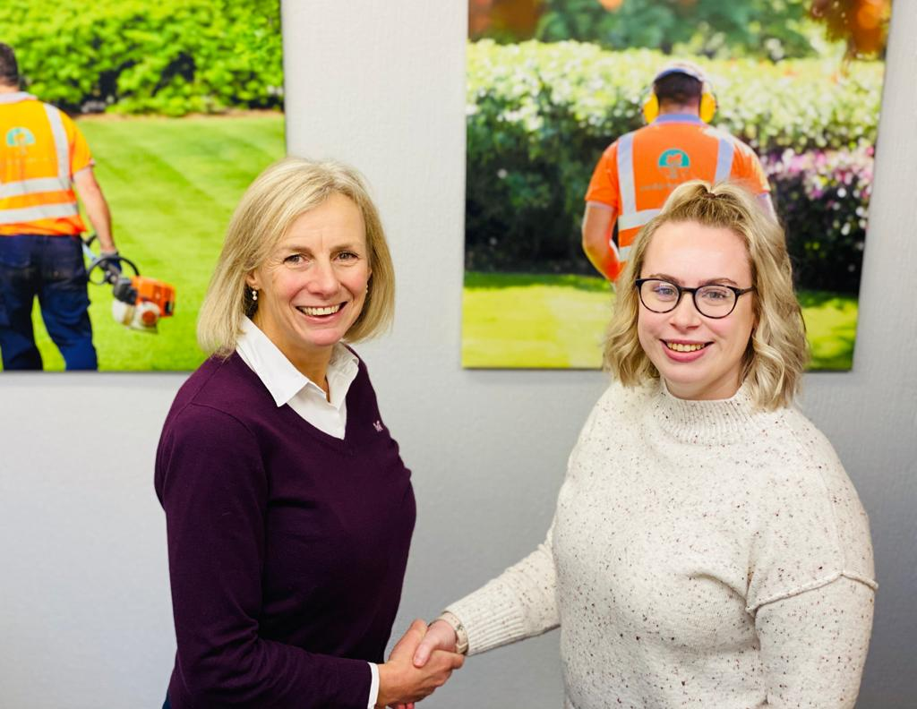 Shed Grounds Maintenance welcomes new Marketing Assistant Sophie.