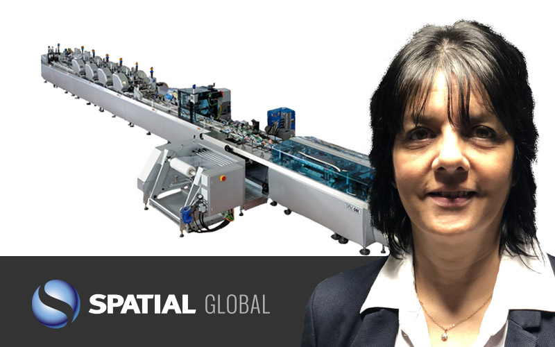 Six figure investment in new paper wrap mailing machine by Spatial Global